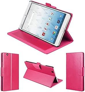 wisers Huawei docomo dtab Compact d-01J 8.4インチ タブレット 専用 フロントスタンド タイプ ケース カバー [2017 年 新型] ピンク