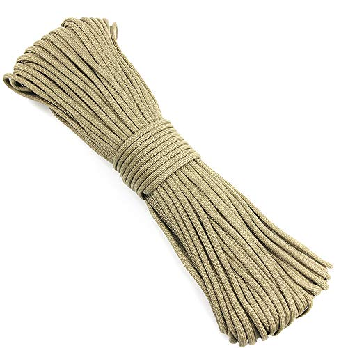 15M Grey Camo Length Andifany 7 Rope Paracord Parachute Rope Resistant Camping Survival Color