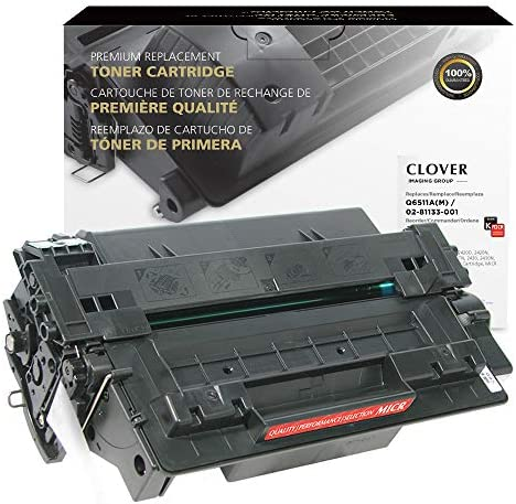 Clover Remanufactured MICR Toner Cartridge for HP 11A Q6511A M 02 81133 001 Black product image