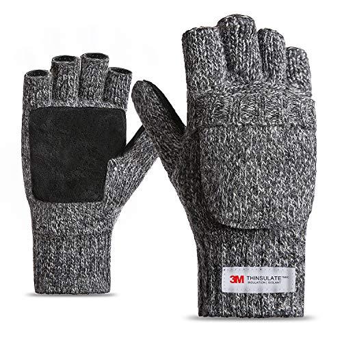 FWPP Winter Fingerless Gloves for Men Women...