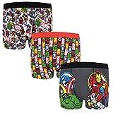 Marvel - Pack de 3 calzoncillos oficiales de estilo bóxer - Para niños - «Los vengadores», Hulk, Iron Man