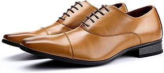 [Aisxle] ビジネスシューズ カジュアル 紳士靴 メンズ 内羽根 ストレートチップ 2色