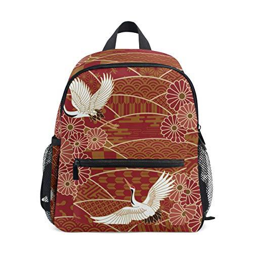 Rucksack mit japanischem Kimono, Kran-Muster, Segeltuch, große Kapazität, lässiger Reise-Tagesrucksack,...