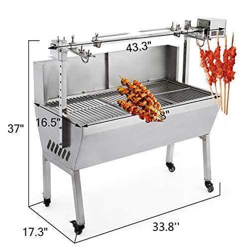 51nTdfScxzL - DHYBDZ Grill, Grill, Elektrospießröster Grillgrill Raucher 132 Pfund Lager Grill Schweinespießröster Lammgrill mit Elektromotorgrill