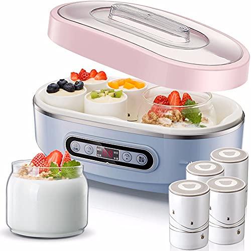 ZXAOYUAN Máquina De Yogurt Máquina De Natto Multifuncional Kimchi Máquina De Fabricación De Vinos De Arroz (Color: Rosa, Tamaño: 30x17x15.3cm)