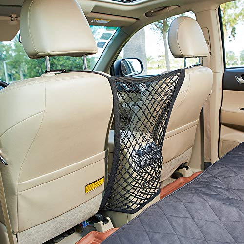 INNX Pet Barrier Safety Net Dog Barrier-2019 Popular Design Universal for Cars, Jeeps, Trucks, Suvs, Vehicles, Dogs, Pets, Seatback, Front Seat, Heavy Duty and Portable (15.7' W x 19.7' H)