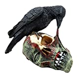 """Ebros T Virus Infected Raven Crow Feeding on Zombie Flesh Decorative Figurine 4.25""""H As Doomsday Apocalypse Dead Walking Collectible Statue Gothic Halloween Prop Sculpture Gift Ideas For Zombie Fans"""