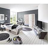 Jugendzimmer Komplett Set LEEDS-10 - in Sandeiche Nb.
