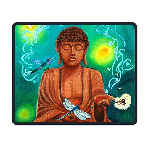 Yanteng Comfortable Mouse Pads,Asian Buddha Lotus Zen Mouse Mat,Personality Desings Gaming Mouse Pad (Buddhas Mouse Pad)