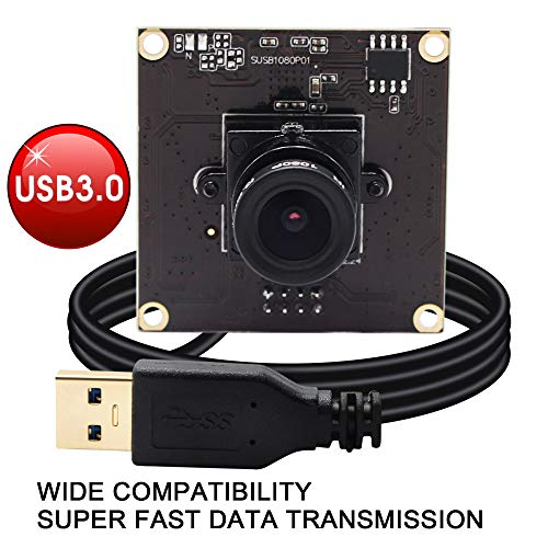ELP Webcam USB3.0 Compatible with Sensor Sony IMX291 USB Kamera MJPEG YUY2 50fps 2 Megapixel Hochgesch Windigkeits 1080P Kamera Modul für Android Linux Windows Mac SUSB1080P01-L36