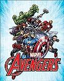 Desperate Enterprises Marvel Comics Avengers Ensemble Tin Sign, 12.5' W x 16' H