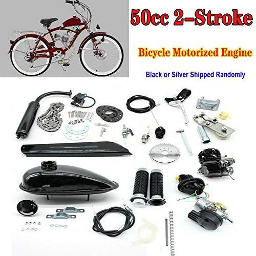 50CC 2-Takt-Fahrradbenzinmotor Motor Kit , Luftgekühlter Fahrradmotor , Fahrradmotor Motorisierter Benzin-Hilfsmotor für DIY-Motorfahrrad