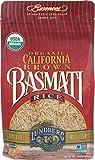 Lundberg Family Farms - Organic California Brown Basmati Rice, 100% Whole Grain, High Fiber, Pantry Staple, Great for Cooking, Gluten-Free, Non-GMO, USDA Certified Organic (32 oz)