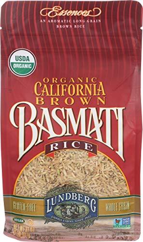 Lundberg Family Farms - Organic California Brown Basmati Rice, 100% Whole Grain, High Fiber, Pantry...