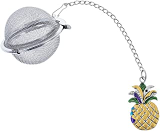 Novelty Stainless Steel Mesh Tea Ball Strainer with Charm (Pineapple)