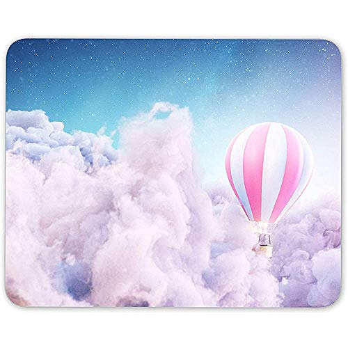 Muis Pad, Hot Air Balloon Droom Muis Mat Pad Roze Wolken Animatie Computer Gift