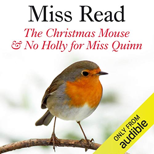 The Christmas Mouse and No Holly for Miss Quinn audiobook cover art
