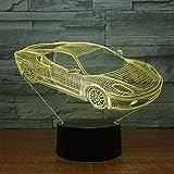 3D Veilleuse carTouch LED Table Lampe de Bureau 7 Changement de Couleur USB Chargeur Alimenté Interrupteur Tactile Bureau Veilleuse pour Enfants Amis Cadeau