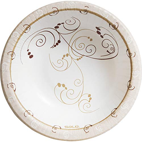 Solo HB12-J8001 12 oz Symphony Paper Bowl, Heavy Weight (Case of 1000)