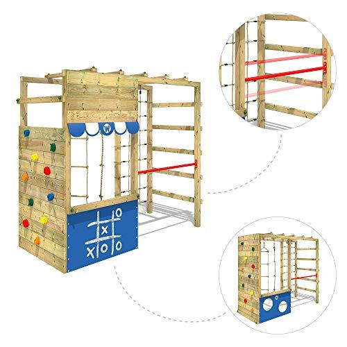 WICKEY Spielturm Klettergerüst Smart Action mit blauer Plane, Gartenspielgerät mit Kletterwand & Spiel-Zubehör - 2