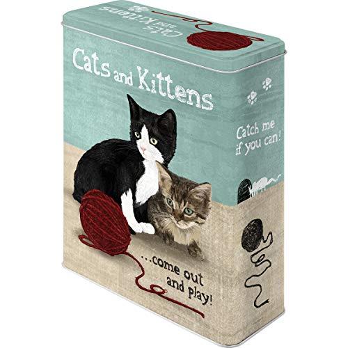 Nostalgic-Art Caja metálica de Estilo Retro - Cats and Kittens