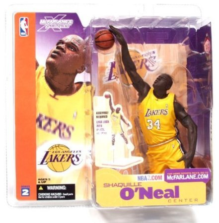 McFarlane Toys NBA Sports Picks Series 2 Shaquille O'Neal (Los Angeles Lakers) Giallo Jersey Action Figure