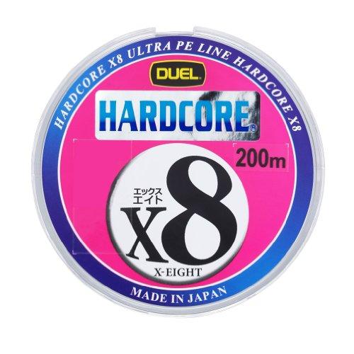 DUEL(デュエル) HARDCORE(ハードコア) PEライン 1号 HARDCORE X8 200m マーキングシステム/10m×5色 H3262