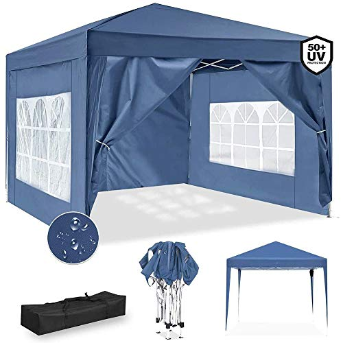 YDBET 3X3m Garden Gazebo Marquee Tent with Side Panels, Fully Waterproof, Powder Coated Steel Frame for Outdoor Wedding Garden Party