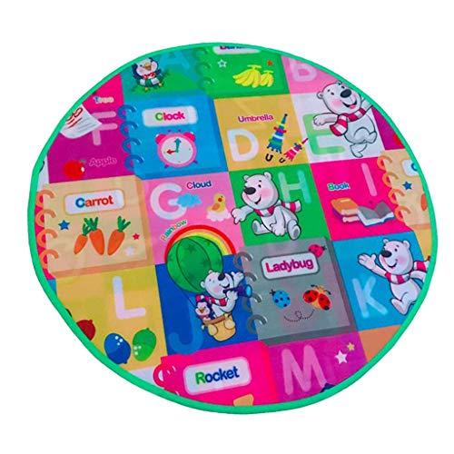 Hellery Alfombra Redonda para Bebés Y Niños - Actividad Infantil con Suelo de Espuma