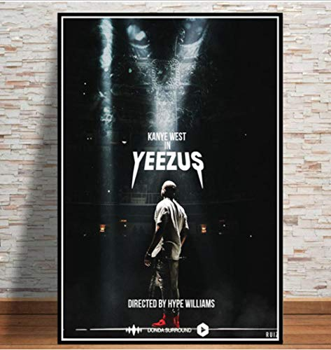 Kanye West Rapper Musik Super Star Sänger Rapper Tour Poster Und Drucke Malerei Kunst Wandbilder Wohnzimmer Home Decor 50 * 70Cm No Frame