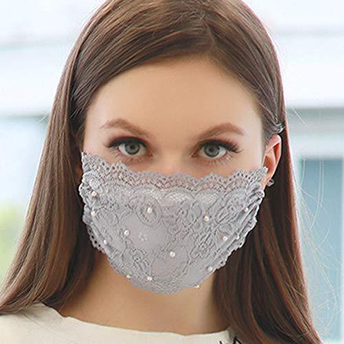 TseanYi Fashion Lace Mask with Pear…