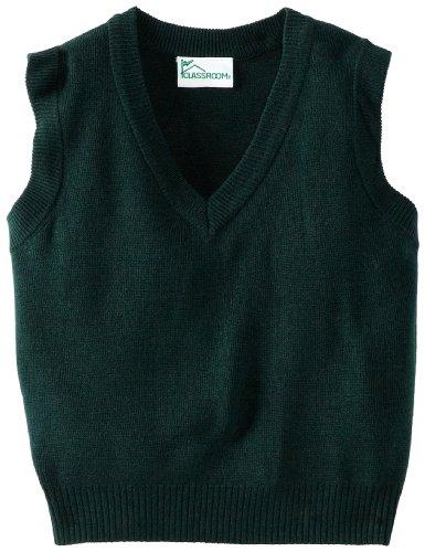 CLASSROOM Big Boys' Uniform Sweater Vest, Hunter, Large