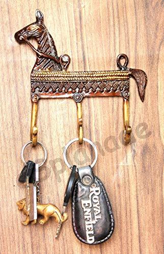 eSplanade Porte-clés ethnique en laiton pour crochet de suspension, support de clé mural, support de clé, crochets porte-clés Roi Multicolore