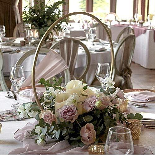 Amazon Com Everbon Set Of 10 20 Inch Tall New Gold Round Wedding Centerpiece Vase Hoop Centerpiece Stand Metal Floral Hoop Wedding Decor Home Kitchen
