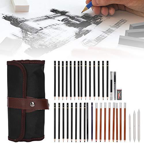 Juego de lápices para dibujar, lápiz para pintar con bolsa