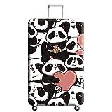 Cubierta de Equipaje Estampado Animal Conjunto de Maleta con Forma de Panda,Duradero Protector Lavable Plegable, el Tamaño del Protector de la Maleta se Ajusta 18-32 Pulgadas (Panda 1, M)