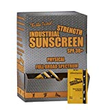 Box of 100 - Single Use Foil Packs Industrial Zinc Oxide Sunscreen SPF30+, Full Broad Spectrum, Rubs in Clear, Protects Immediately, 80-min Water Resistance. Anti-inflammatory Properties.