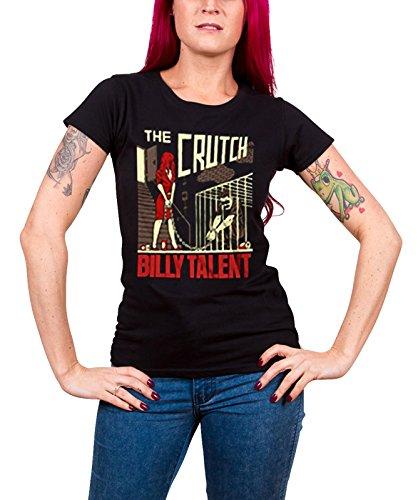 Billy Talent T Shirt The Crutch Band Logo Nue offiziell Damen Schwarz Skinny fit