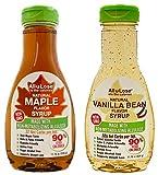 Allulose - Natural Maple and Vanilla Bean Flavored Non-GMO Allulose Syrup, 11.75oz bottles - All-u-Lose (1 each)