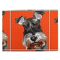 シュナウザー オレンジ色 dog 大人と子供のための木製ジグソーパズル500ピース、クリエイティブギフトの家の装飾のためのアートワークジグソーパズルおもちゃ