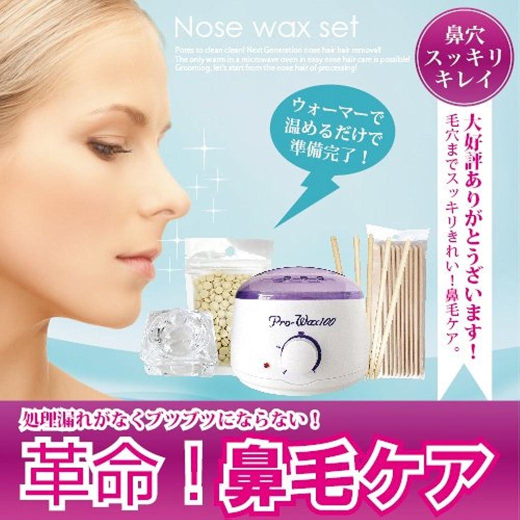 豊富な蛾吐き出すブラジリアンワックス Nose wax setウォーマー付ノーズワックス鼻毛ケアセット(約12回分)