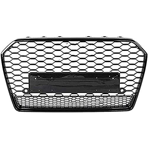 Para Audi A6/S6 C7 2015-2018, Parrilla Radiador Parachoques Delantero Coche, Rejilla Malla RiñóN Central, Rejilla Carreras, Cubierta VentilacióN, Accesorios Estilo