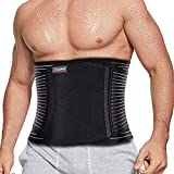 Back Brace Support-Lumbar Support Waist Back Support Belt with 8 pcs Metal Spring Strip for Lower Back Pain Relief,Herniated Disc,Sciatica,Scoliosis for Men&Women(Large).