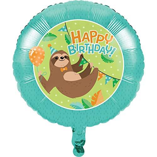 Creative Converting Faultier-Party-Ballon, 1 Karat, mehrfarbig, 45,7 cm