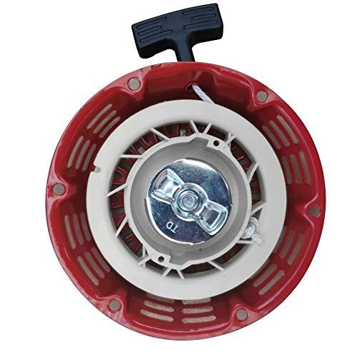 Arrancador de retroceso,Gx160 5.5HP Gx200 6.5HP Generador de jardín Motor Motor Cortacésped Piezas Rojo para Honda