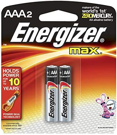 Amazon Com Energizer Max Alkaline Batteries Aaa 2 Each Industrial Scientific