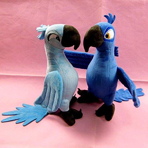 VintageⅢ 2018 Hot Original Rio Papagei Plüsch Blu & Jewel Cartoon Weiche Kinder Stofftiere Spielzeug Jungen Mädchen Kinder 30 cm (Both)