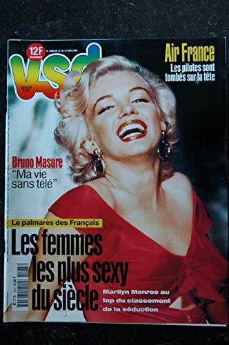VSD 1805 11 au 17 juin 1998 Marilyn Monroe - Les femmes les plus sexy du siècle 12 p. - Bruno Masure