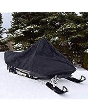 Winter Snowmobile Cover med infällbart rep, vattentät dammtät och anti-UV, släpvagnsläckning för utomhus motorcykelskydd