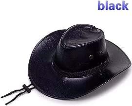 Cosplay Red Dead Redemption 2 Panama Hat Rdr2 Arthur Morgan Leather Western Cowboy Hat (Black)